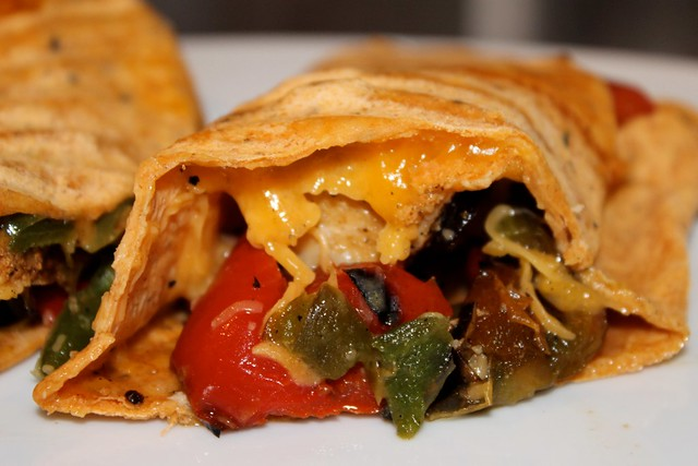 Chicken Fajita Healthy Chimichanga