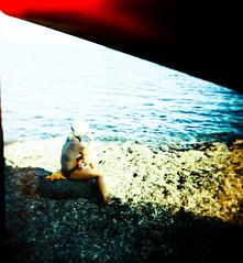 Holga in summer (Zé.Valdi) Tags: sea beach mar holga lomo lomography xprocess spain crossprocess playa cabodegata almera
