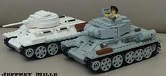 pair of T-34's (BeLgIuM ww2 bUiLdeR) Tags: tank lego wwii ww2 picnik moc sovjet rusian t34 t3485 t3476 brickarms