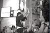 Signaling the time to put down the mikoshi, Akasaka matsuri (View Master 187) Tags: camera japan start tokyo soviet rodinal russian matsuri akasaka fujineopan400 ctapt