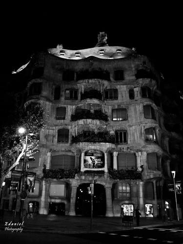 Facade of a house of Gaudi