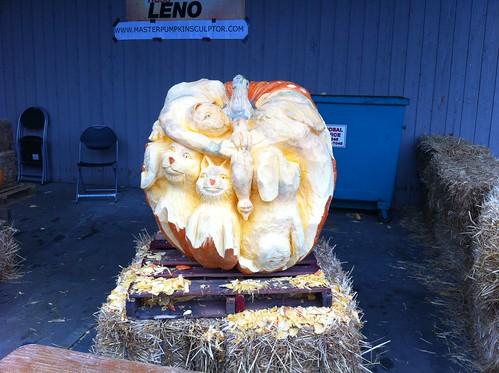 huge pumpkin carving