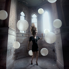 The Atlantis Effect (Rob Woodcox) Tags: urban abandoned beauty fashion hair concrete necklace dress cathedral decay exploring magic detroit surreal bubbles atlantis orbs robwoodcox robwoodcoxphotography ellasvenfashion