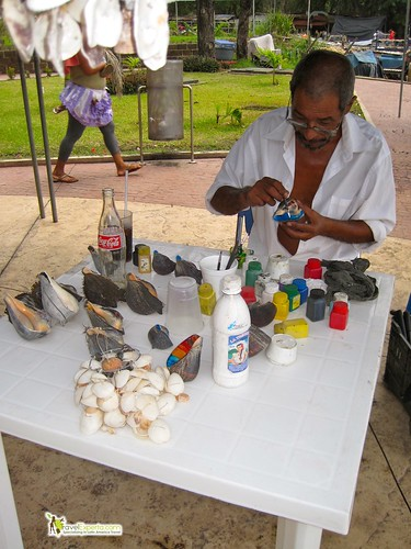 local seashell artist la libertad el salvador