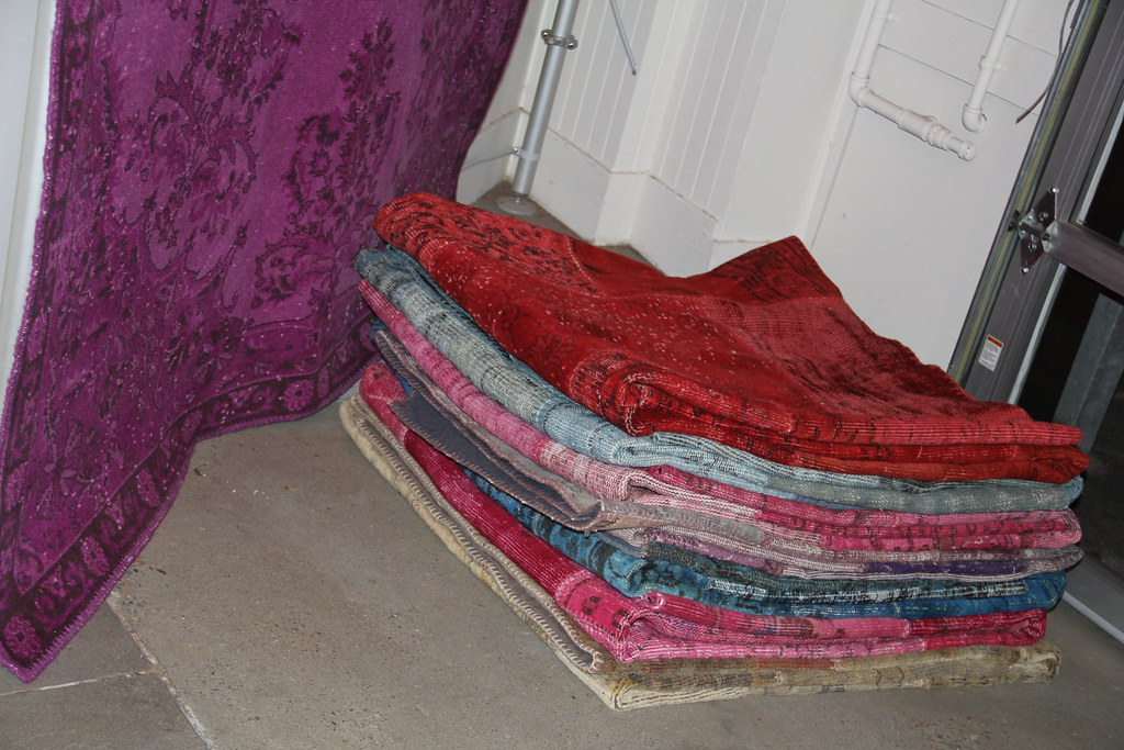 Over dyed rugs and patchworks