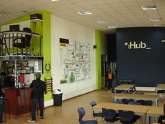 iHub entrance and coffee bar