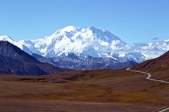 Mountain - Alaska's Denali (blmiers2) Tags: travel blue autumn brown white mountain mountains fall nature alaska clouds landscape geotagged photography nikon denali mtmckinley d3100 blm18 blmiers2