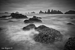 An Eerie Morning at Seal Rock (* Ian Rogers *) Tags: longexposure blackandwhite bw white black beach monochrome rock oregon dark coast scary long exposure seal oregoncoast sealrock eeire southernoregoncoast