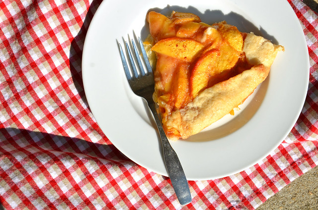 peaches & cream galette