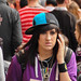 Emo Kid with sideways cap and jewellery