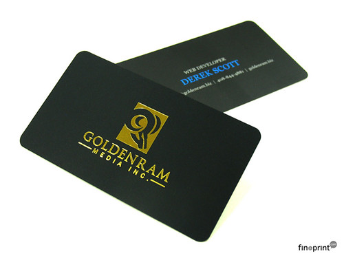Gold Foil Stamped Business Cards
