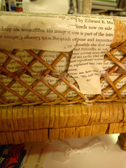 Up-cycled project, wicker shelf 2
