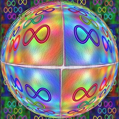 Infinity  (yoel_tw) Tags: abstract globe abstractart infinity digitalart sphere svg inkscape photofiltre   bubblesphere   circlecrazy