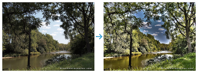 Thames River (Ontario) in HDR - Before and After