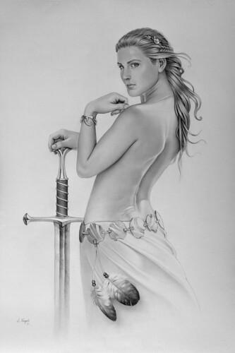 Mujer con espada by J.nogues