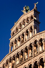 "San Michele in Foro Facade III • <a style=""font-size:0.8em;"" href=""http://www.flickr.com/photos/55747300@N00/6173095281/"" target=""_blank"">View on Flickr</a>"
