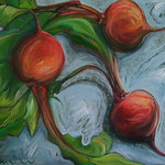 """<b>Swollen Roots</b><br/> Gilbertson (LC '04) (Oil paint on canvas, 2011)<a href=""""http://farm7.static.flickr.com/6171/6173095319_c2cc864bd8_o.jpg"""" title=""""High res"""">∝</a>"""
