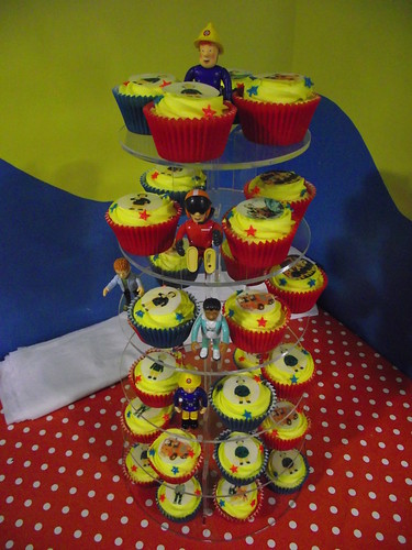 Fireman Sam cupcakes