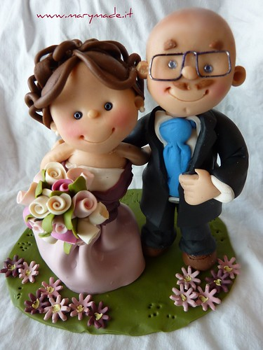 cake topper marymade.it per torta nuziale della sposa Federica  di mary tempesta su Flickr