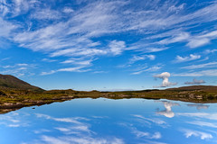 Lough Isknaghiny (Ian Humes) Tags: ireland summer lake water clouds reflections landscape lough bluesky calm cloudscape countykerry explored loughisknaghiny