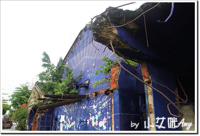 單車環島第四天 (21) 台南市海安路藝術街藍晒圖