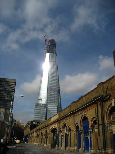 Dazzled by the shard in sunshine