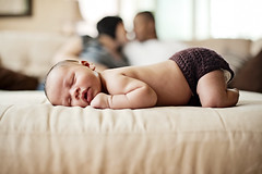 A happy family is but an earlier heaven. (Kelly West Mars) Tags: family sleeping portrait baby love home happy 50mm infant kiss sweet bokeh f14 lifestyle naturallight livingroom newborn nikond700