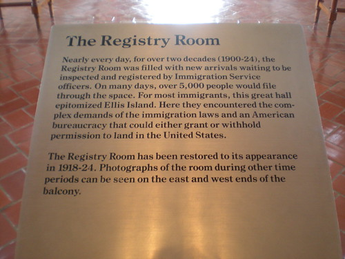 Registration Room: Ellis Island
