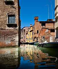 Side Street, Venice (Jon Meyer Photographic Art) Tags: venice italy color reflection water facade buildings reflections boat canal europe waterway sidestreet jonmeyer commercialboat nikond3x jonmeyerphotography jonmeyerphotographicart