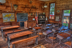 Class is Out (Photomatt28) Tags: school classroom florida desk map piano nik hdr topaz dunce dadecity photomatix pioneerfloridamuseumandvillage lacoocheeschoolhouse