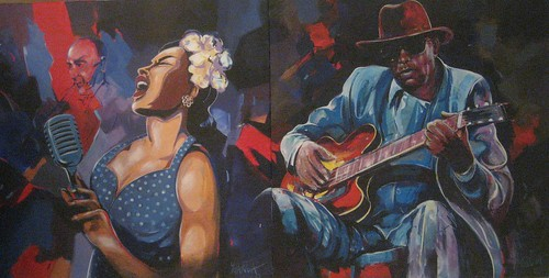 Billy Holiday and BBKing- Painting