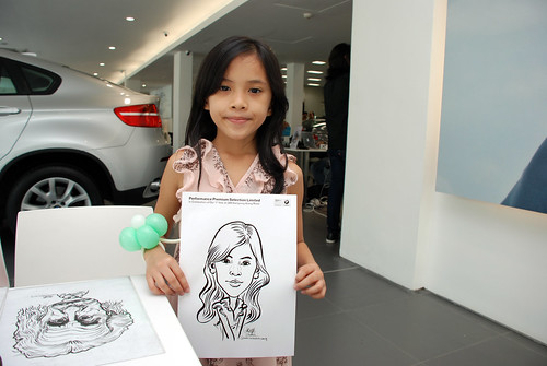 Caricature live sketching for Performance Premium Selection first year anniversary - day 4 - 7