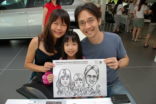 Caricature live sketching for Performance Premium Selection first year anniversary - day 4 - 20