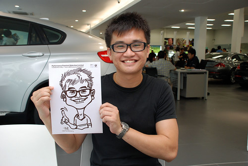 Caricature live sketching for Performance Premium Selection first year anniversary - day 4 - 24