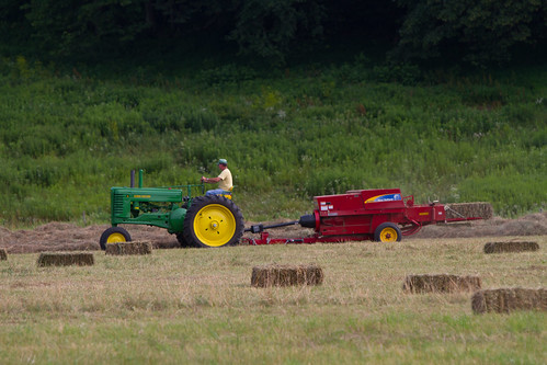 Bailing hay