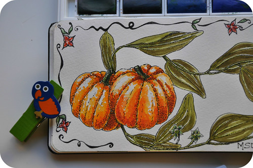 Pumpkins in watercolors.