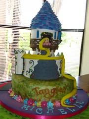 Tangled (K'precious Cakes) Tags: flowers flores castle disney rapunzel torta castillo tangled fondantcake