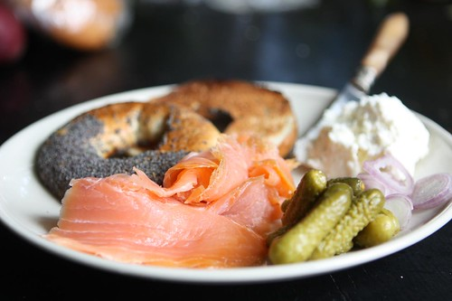 Montreal Bagel with Smoked Salmon