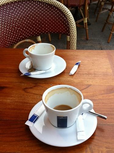 A morning cafe au lait