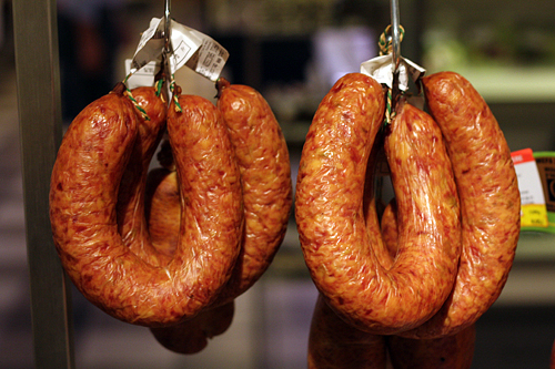 smoked cabbage sausage