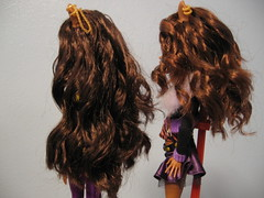 New hair! (starzzzcollide) Tags: wolf dolls schoolsout boilperm wave2 customiseddolls clawdeen monsterhigh clawdeenwolf