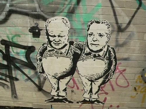 Deadboy graffiti: Rob and Doug Ford, Toronto