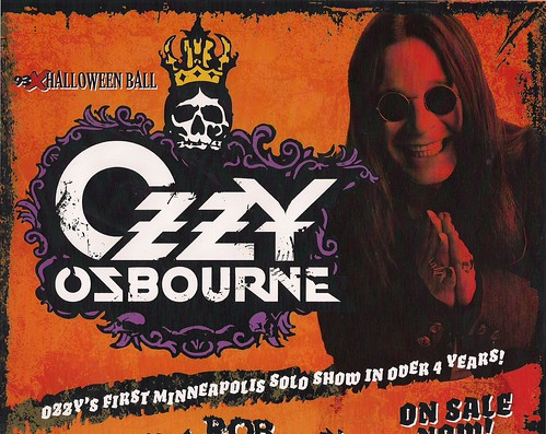 10-31-07 Ozzy Osbourne/Rob Zombie/In This Moment @ Target Center, Mpls, MN (Poster - Top)