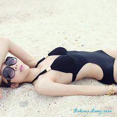 บิกินี วันพีช สีดำ เว้าเอว So sexy