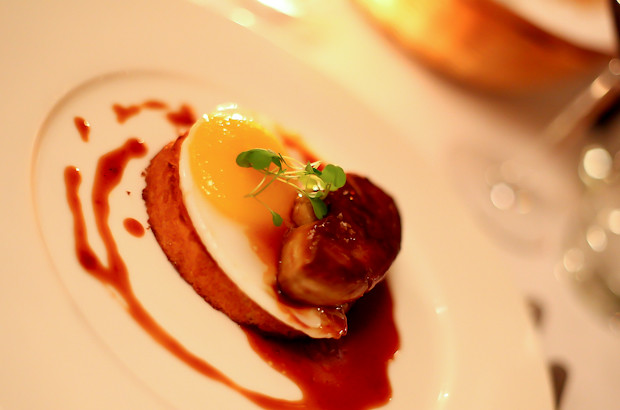 Panache of Foie Gras with Duck Egg