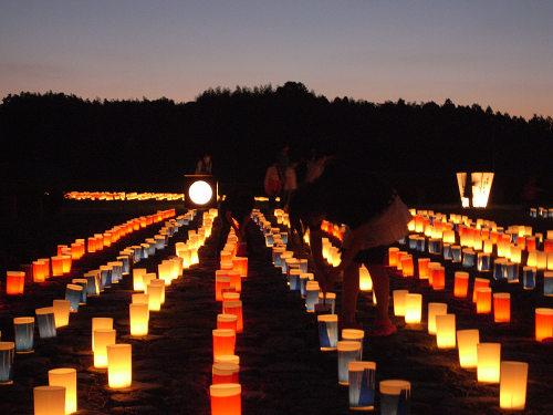 秋の仄明かりイベント『飛鳥光の回廊2011』@明日香村