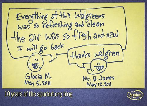 Ten years of spudart: Walgreens