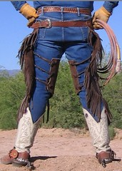 WRANGLER COWBOY (AZ CHAPS) Tags: ranch leather spurs cowboy boots wranglers rope gloves chinks