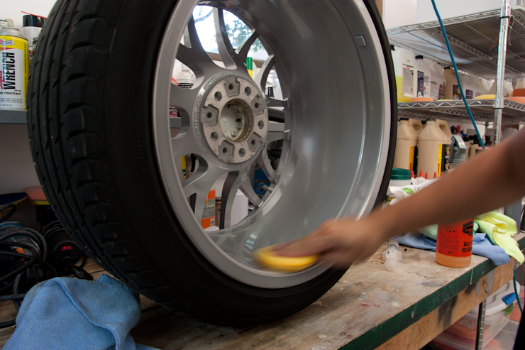 Opti-Coat applied to wheel by Rasky