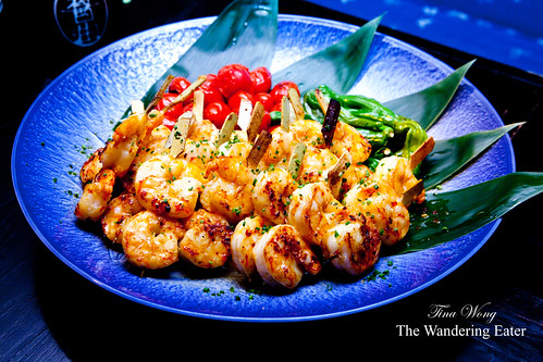 Wrath: Red hot shrimp skewers in yuzu marinade (3rd course)